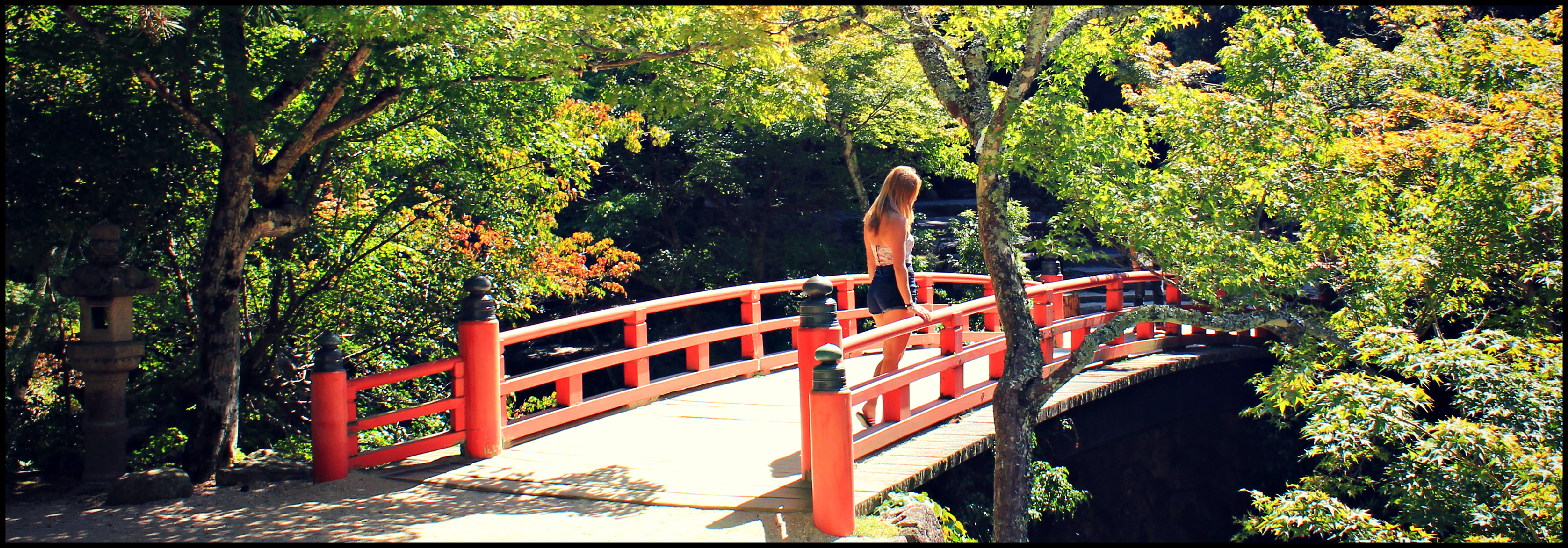 pose on bridge
