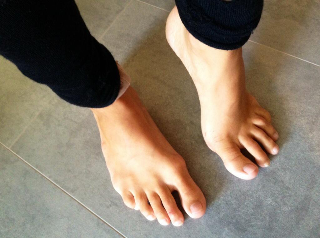 trött i fötterna