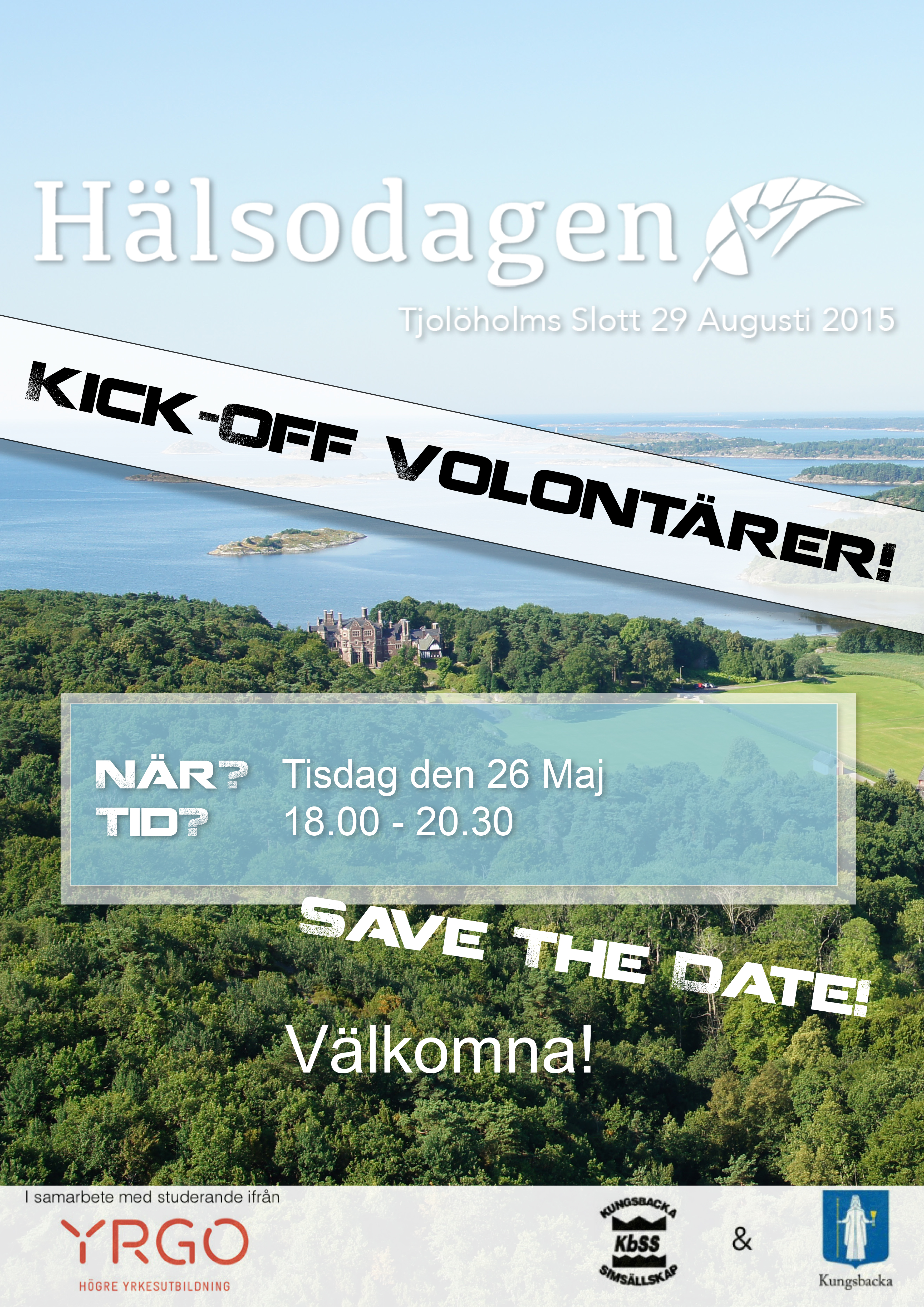 Affisch A3 Hälsodagen Volontärer Save The Date