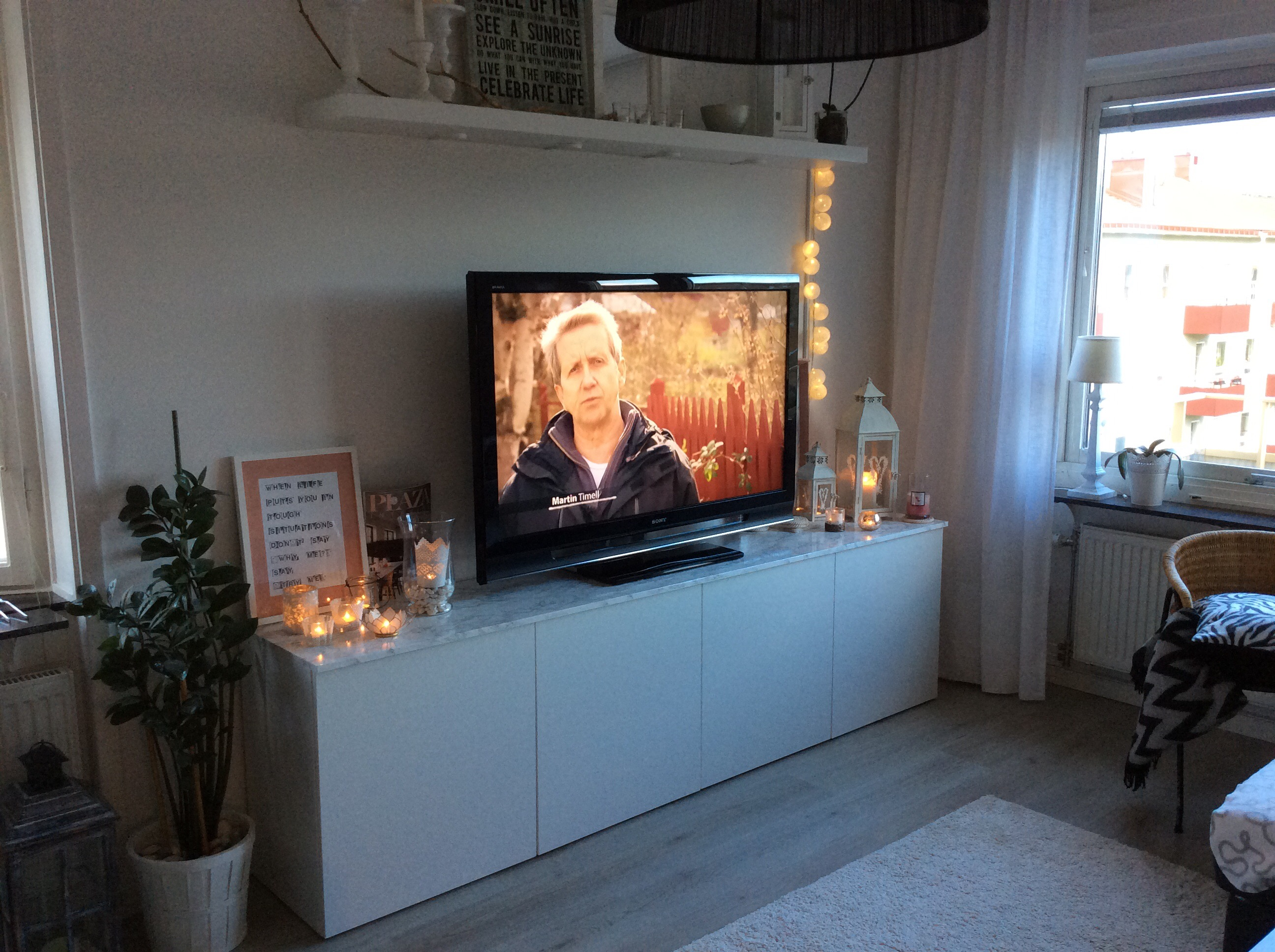 diy marmorskiva p v r nya tv m bel. Black Bedroom Furniture Sets. Home Design Ideas
